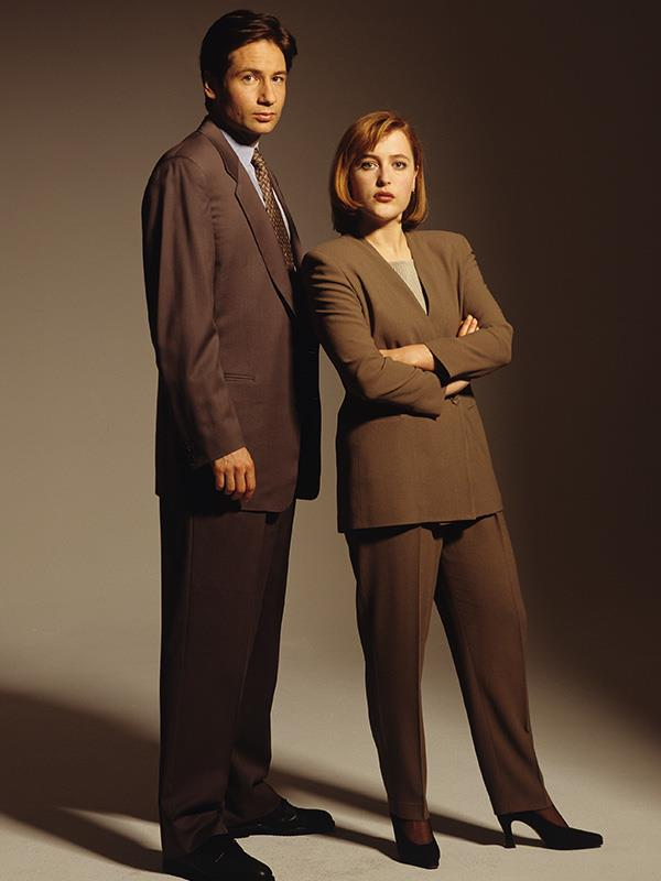 Dave and Gillian in character on *The X-Files*.