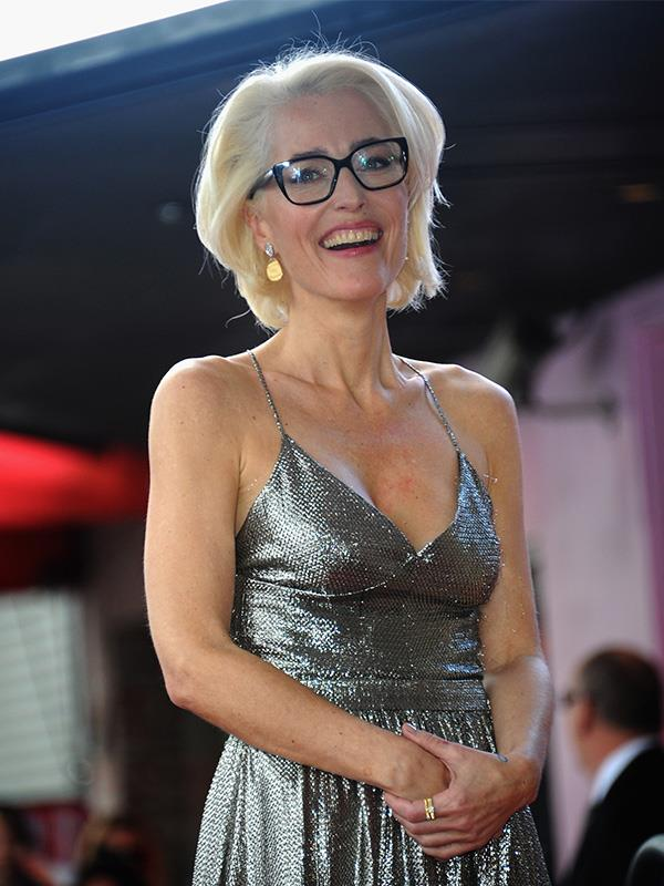 Gillian was all smiles in 2018, at age 49, as she accepted her star on the Hollywood Walk of Fame.