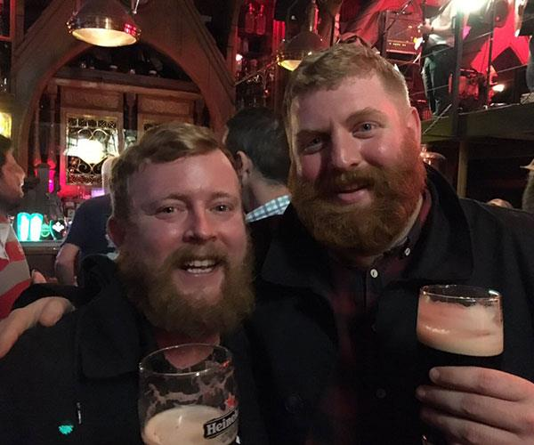 After landing in Ireland, Neil discovered that his mirror-image man, Robert Stirling, was also staying at the same hotel.  <br><br> The pair took it as a sign and decided to go out for a few beers. They had a great time together, but were a bit dusty the next day!