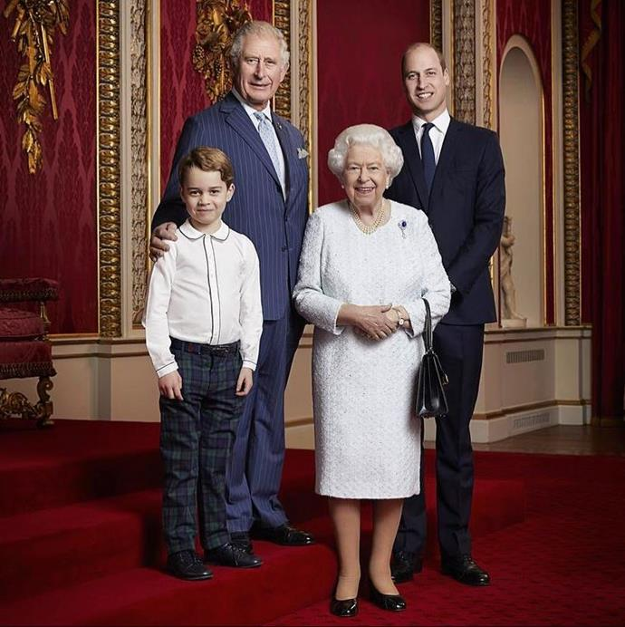 A new official portrait of the Queen and her heirs was dropped at the beginning of the year.