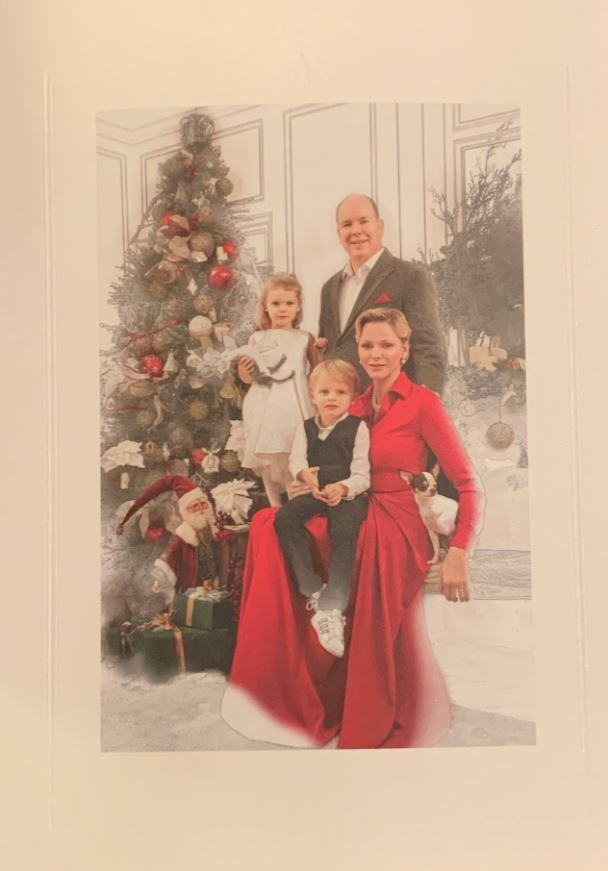 The first photo of the Christmas card was the same one used for the 2018 Christmas card.