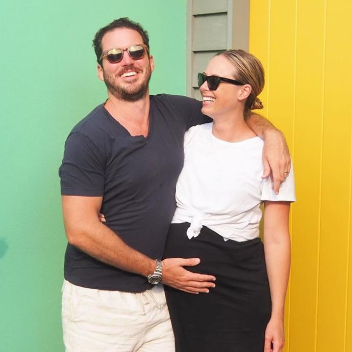 Sylvia Jeffreys is expecting her first child with husband, Peter Stefanovic.