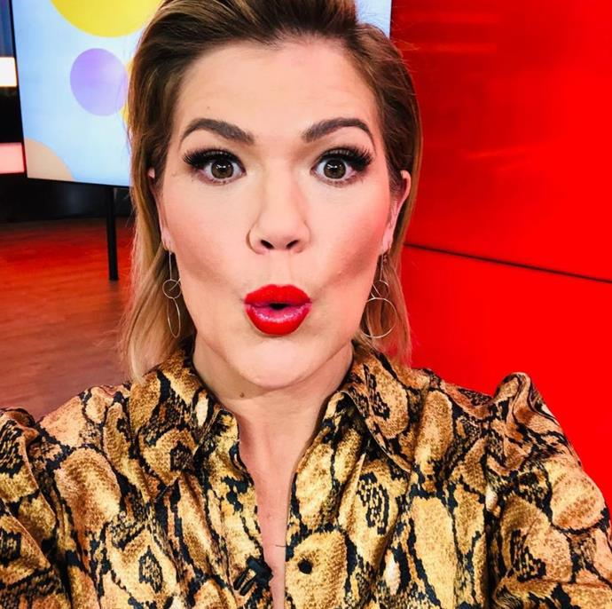 *Studio 10*'s Sarah Harris suggested Sylvia to drink red raspberry leaf tea to soften her cervix.