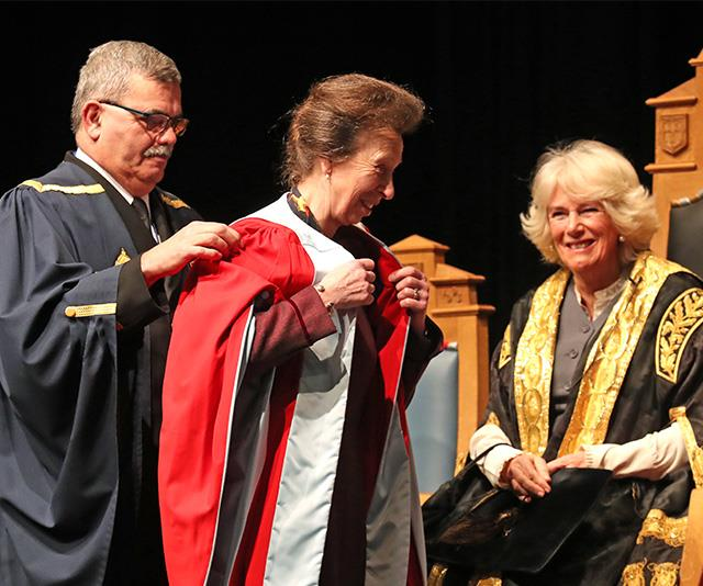 Anne was given special robes to wear during the ceremony.