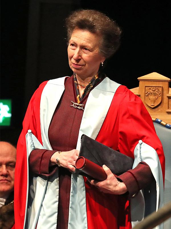 Anne donned special red robes for the occasion.