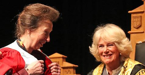 Duchess Camilla presents prestigious award to Princess Anne | Australian Women's Weekly