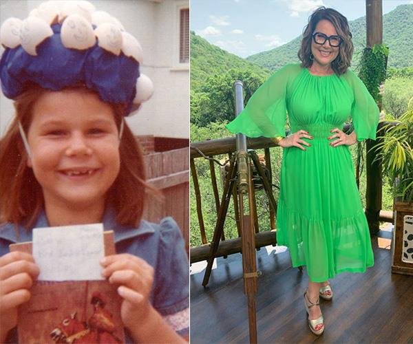 """Rocking an earlier egg challenge..."" *I'm A Celeb*'s Julia Morris uploaded a cute throwback pic of herself in her younger years and it is egg-cellent to say the least!"
