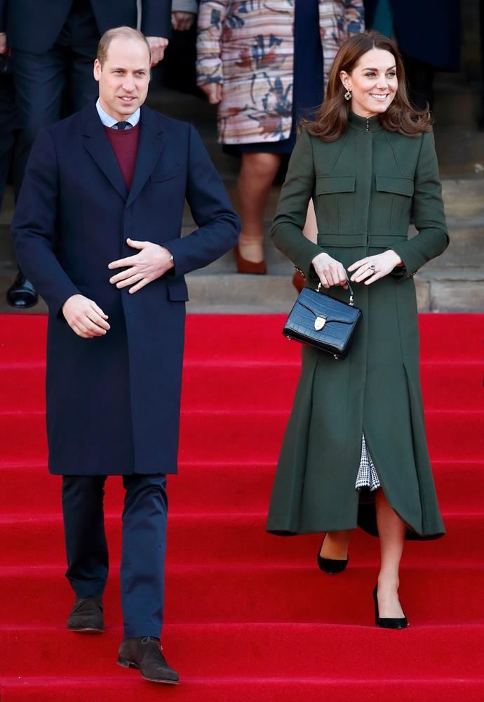 Kate and Wills stepped out in Bradford for their first joint engagement of the year on Wednesday.
