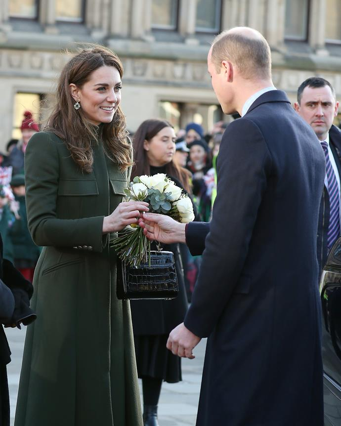 William became Kate's personal flower deliverer at one point.