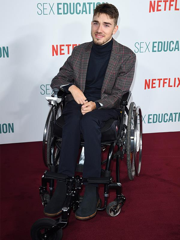 Isaac is played by George Robinson, who is also in a wheelchair in real life. *Sex Education* is his first big acting gig.