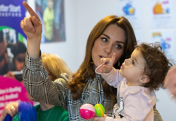 Kate was in her element at the children's centre.