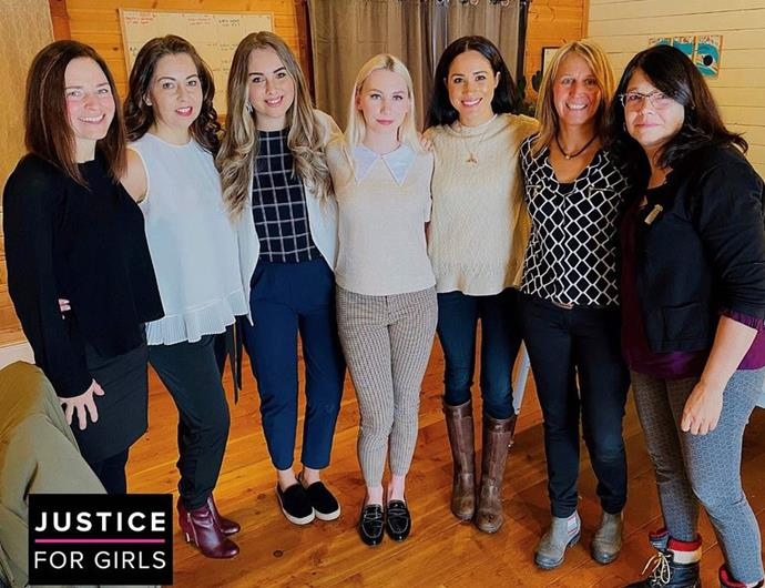 Meghan met with some of the women behind Justice for Girls.