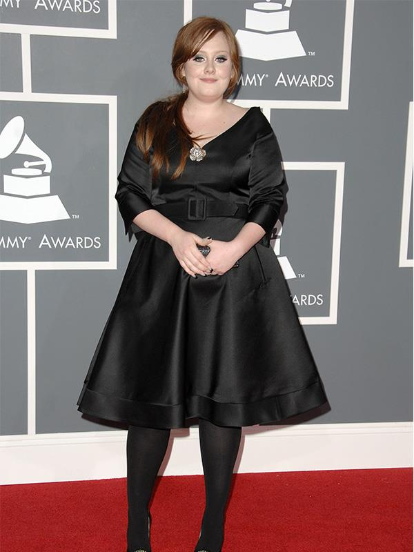 Adele on the red carpet at the 2009 Grammy Awards.