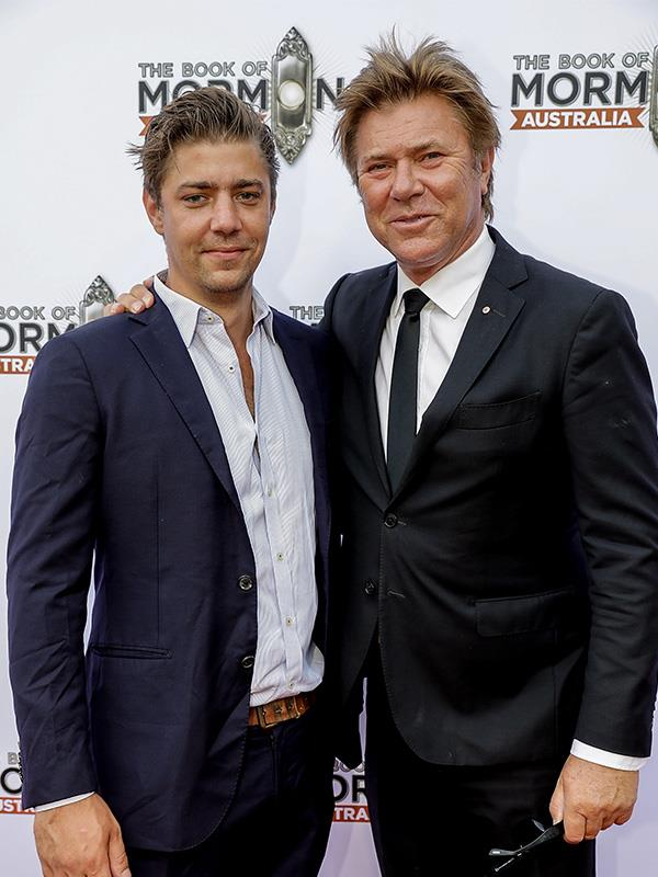 Nick and Richard on the red carpet at *The Book of Mormon* premiere in 2017.