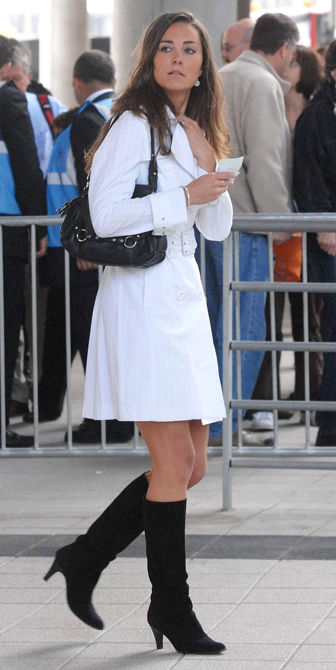 For Princess Diana's memorial concert, Kate's belted trench coat screamed style.