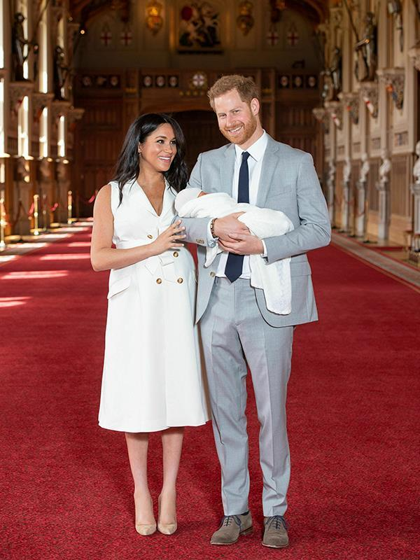 Meghan's white tuxedo midi dress worn for Archie's first photo call had a special meaning behind it.