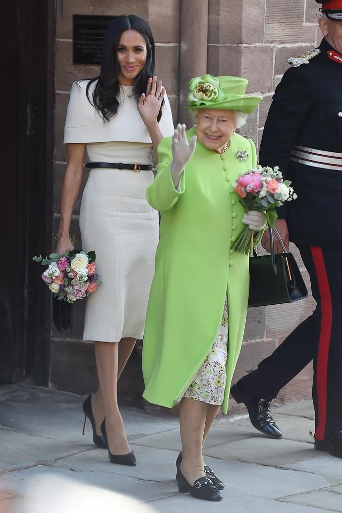 Meghan's beige Givenchy dress worn during her first official outing with the Queen was a sign of many good things to come.