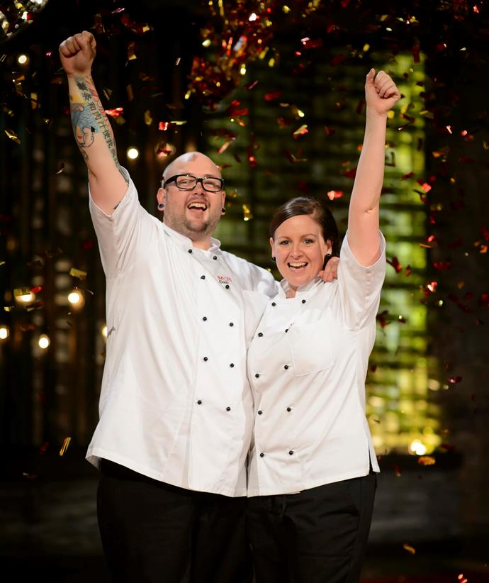 Dan and Steph celebrate their 2013 *MKR* win.
