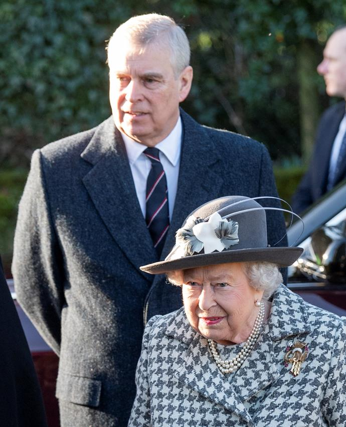 The Queen surprised royal watchers as she stepped out with her son, Prince Andrew, on Sunday.