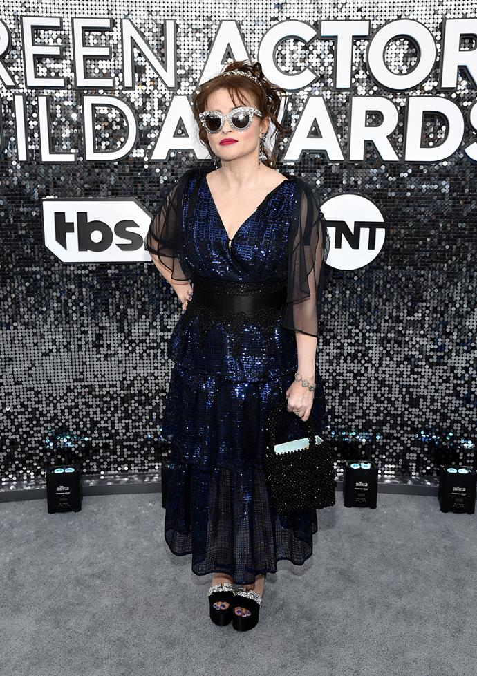 With a future this bright... *The Crown*'s Helena Bonham Carter puts on a display of sass and sunglasses.