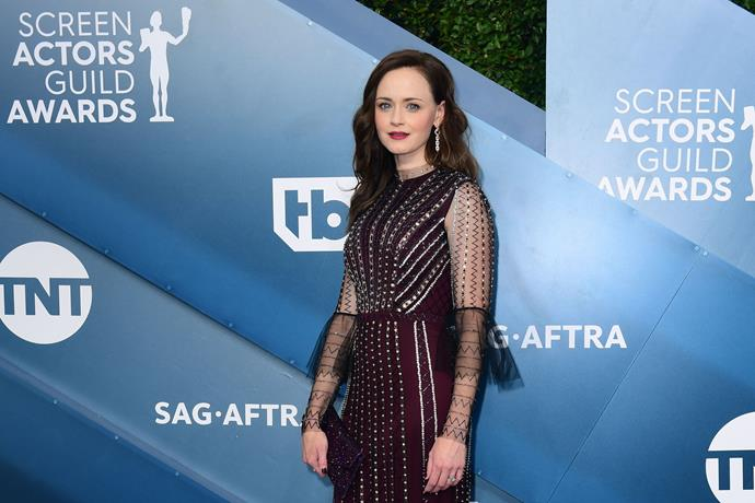 *Gilmore Girls* actress Alexis Bledel is classy in maroon.