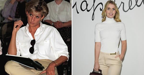 Lady Kitty Spencer channels Princess Diana at Paris Fashion Week   Australian Women's Weekly