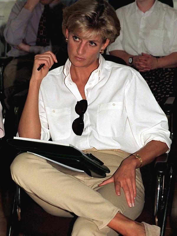 Princess Diana pictured in Angola.