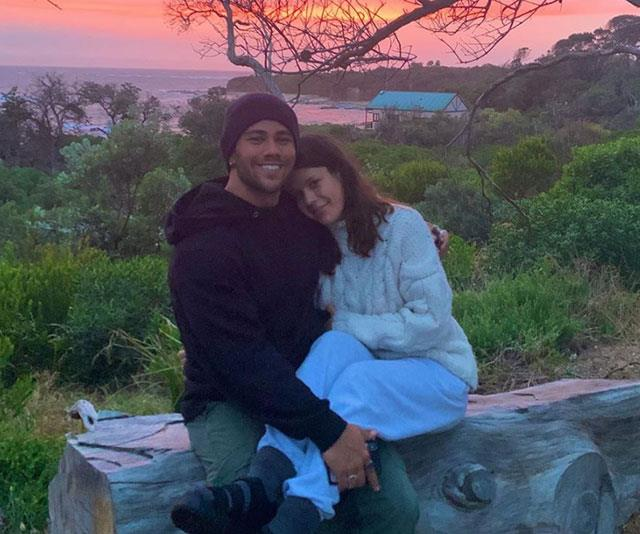 """Sharing a photo of himself with girlfriend Bella Rogers, Orpheus Pledger wrote about his thoughts on being a """"real man""""."""