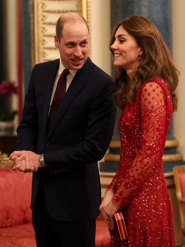 Kate and William sharing a cheeky moment together.