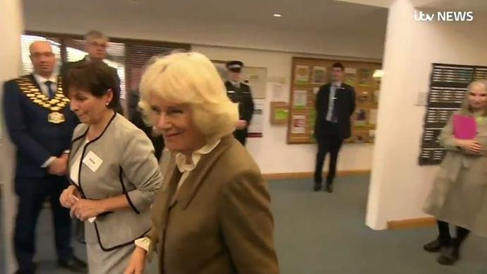 Duchess Camilla's response to the Megxit drama has officially been caught on camera.