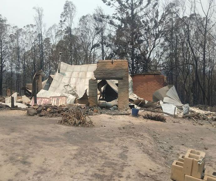 Laena's former home after the bushfires rolled through late last year.