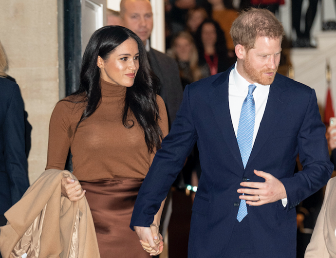 Harry and Meghan made the bombshell announced four days after the contestants entered the jungle.