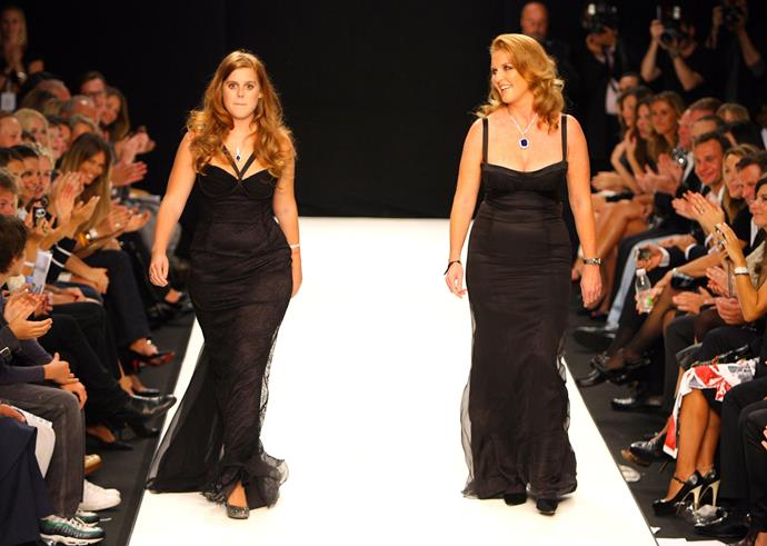 They're not just here for royal fanfare! Sarah Ferguson and daughter Princess Beatrice put their status to good use in a very fashion-forward way in 2007. They both strutted their stuff at the Fashion For Relief Show during London Fashion Week - nailing it!