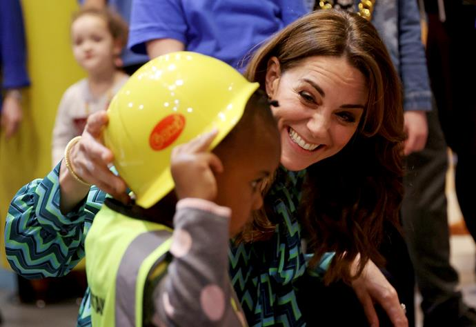 Duchess Catherine visited a children's centre in Birmingham to launch a national survey about early childhood.