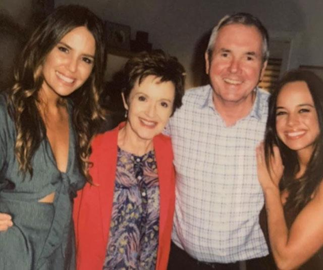 Jodi with *Neighbours* co-stars  Jackie Woodburne,  Alan Fletcher and Bonnie Anderson.