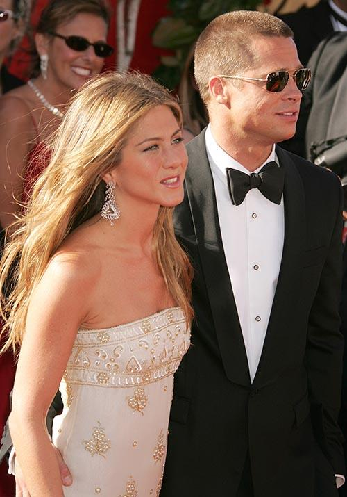 Jen's Emmy Awards dress in 2004 was also a winner grinner.