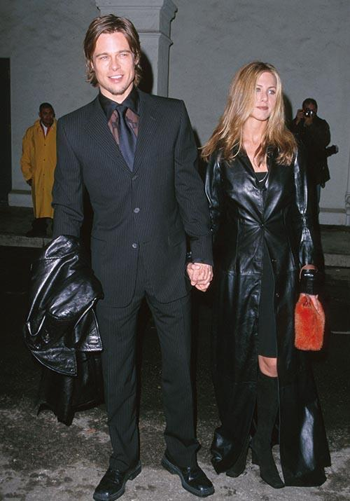 As the 1990s came to an end, Brad and Jen peaked with the trend of the decade. It turns out couples who leather together ... split up five years later. But hey, they looked good while they lasted.