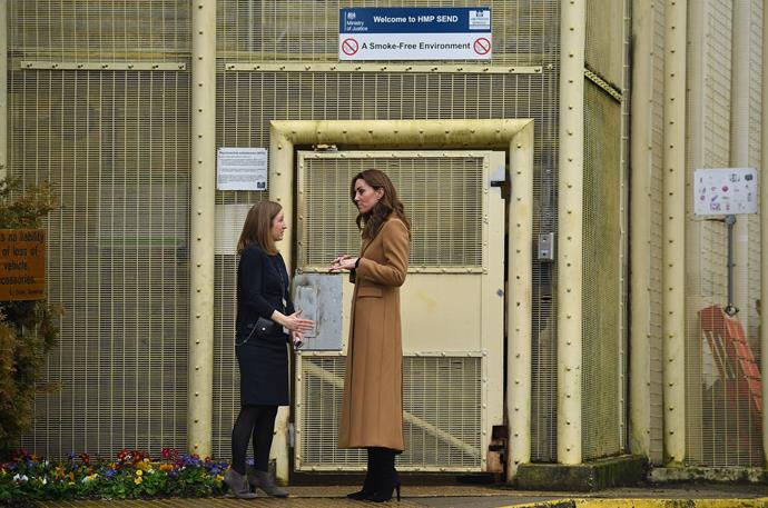 Kate also made a poignant visit to a women's prison facility later that day.