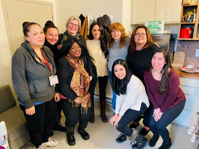 Meghan visited a women's centre in Vancouver last week.