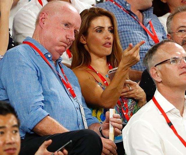 Alright there, Alf and Leah? Yep, even Ray Meagher and Ada Nicodemou have gotten amongst the atmosphere. They're pictured looking a little tense here in 2018.