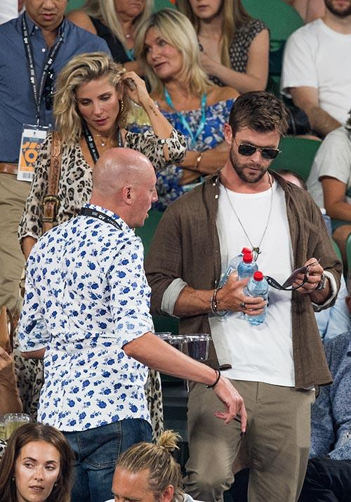 Byron Bay's sweethearts Chris Hemsworth and Elsa Pataky made the journey to the Melbourne tournament in 2018, thoroughly thrilling the masses in the process.