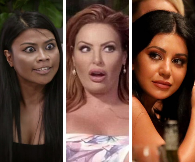From Cyrell's crazy eyes, to Sarah Rosa's incredible makeup, and Martha's dab-hand with a glass of red wine ... *MAFS* has it all.