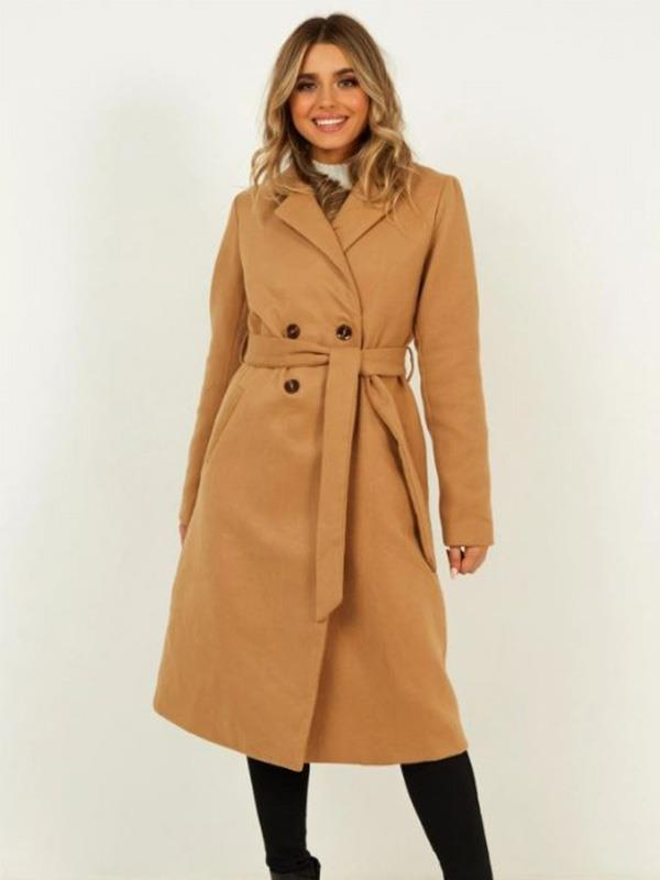 "Rug up in this $119.95 belted camel coat from online retailer [Showpo](https://www.showpo.com/forever-laughing-coat-in-camel|target=""_blank""