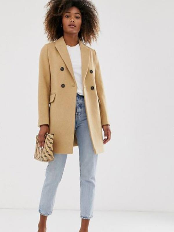 "Stradivarius is a super cool Spanish brand and we love their take on the camel coat. This double-breasted wool blend number costs $120 from [ASOS](https://www.asos.com/au/stradivarius/stradivarius-double-breasted-tailored-coat-in-camel/prd/13107385?clr=camel&colourWayId=16463524&SearchQuery=camel%20coat|target=""_blank""