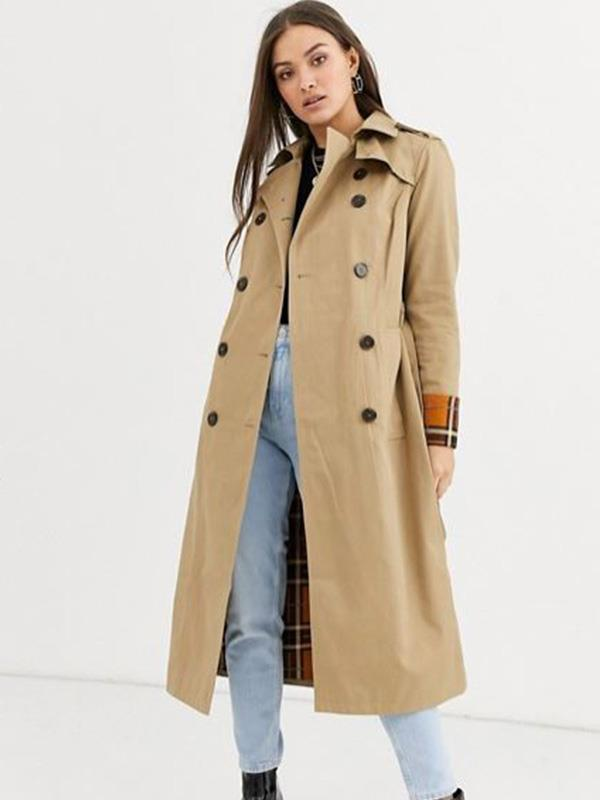 "This Warehouse trench coat from [ASOS](https://www.asos.com/au/warehouse/warehouse-trench-coat-with-contrast-check-in-camel/prd/13700970?clr=beige&colourWayId=16558734&SearchQuery=camel%20coat|target=""_blank""