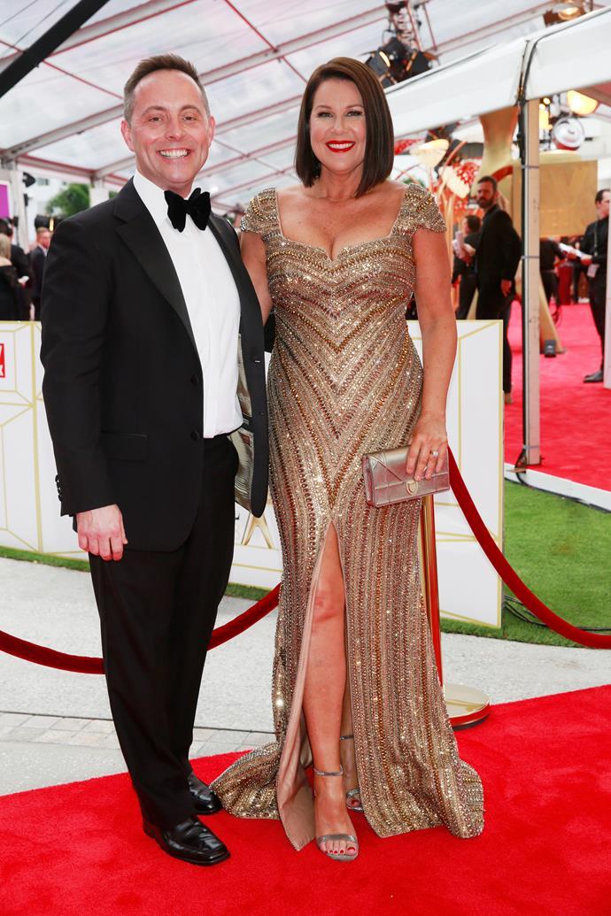 Julia and her husband Dan Thomas at the TV WEEK Logie Awards.