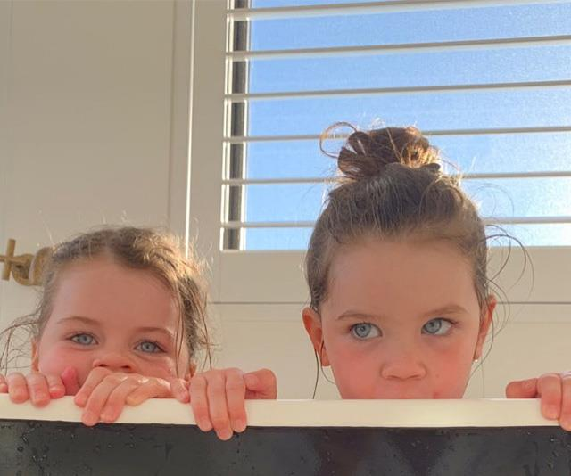 Tom's two little girls.