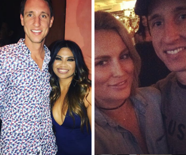Ivan snapped with *MAFS'* Cyrell Paule (left) and hanging out with *The Bachelor's* Keira Maguire (right).