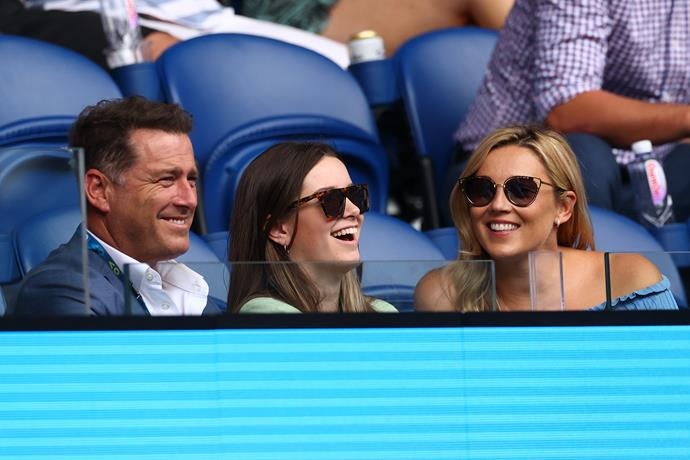 Ava joined dad Karl and stepmum Jasmine at the Australian Open.