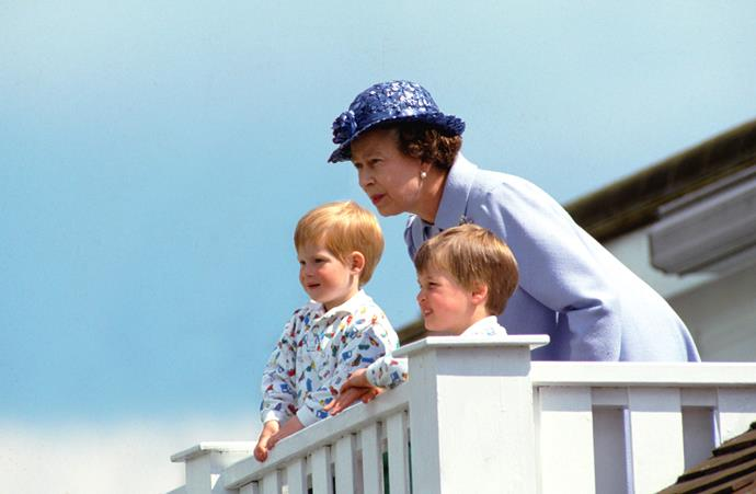 Along with his big brother William, Harry spent plenty of quality time with the Queen growing up.